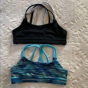 Lot of 2 girls  Champion sports bras